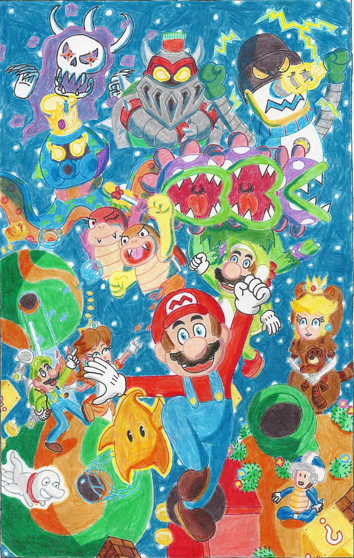 super mario 3d galaxy fanficposter by blockdasher91 on