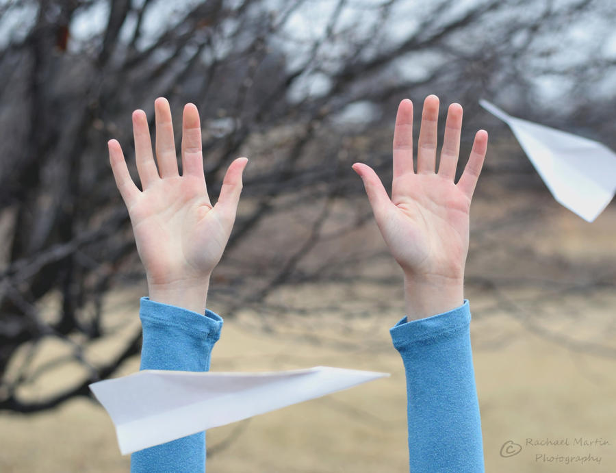 Two Paper Airplanes by VisualPoems