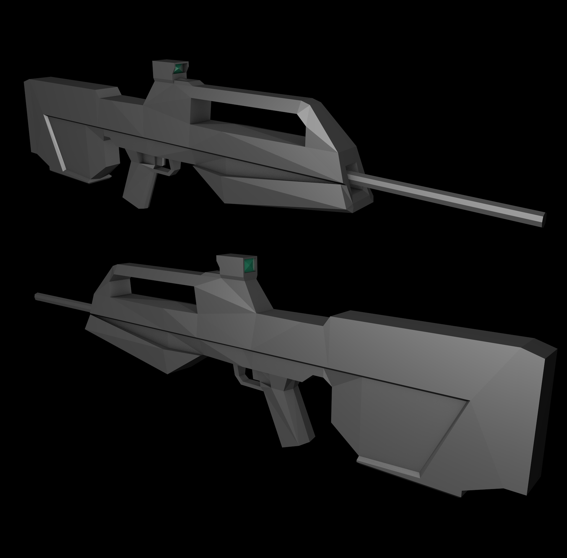 Battle Rifle (Low Poly)