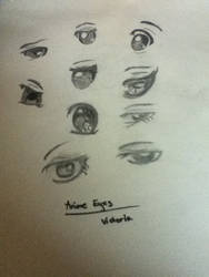 Practicing Anime Eyes by Vann61