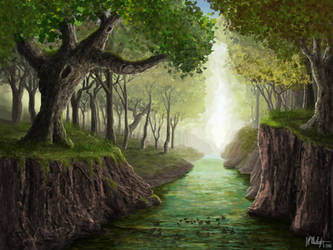 A Forest Brook by Spacepretzel