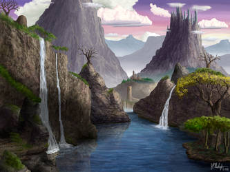 Mountainous Castles by Spacepretzel