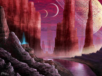 Redworld Alienscape by Spacepretzel