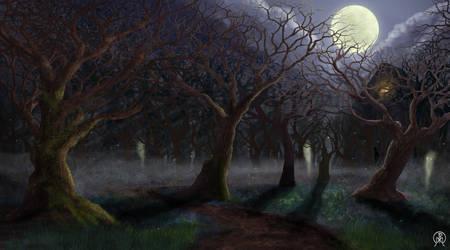 Dark Forest Path by Spacepretzel