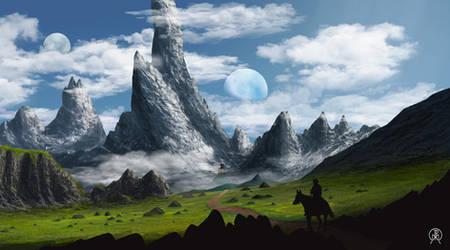 Toward Mountain Spires by Spacepretzel