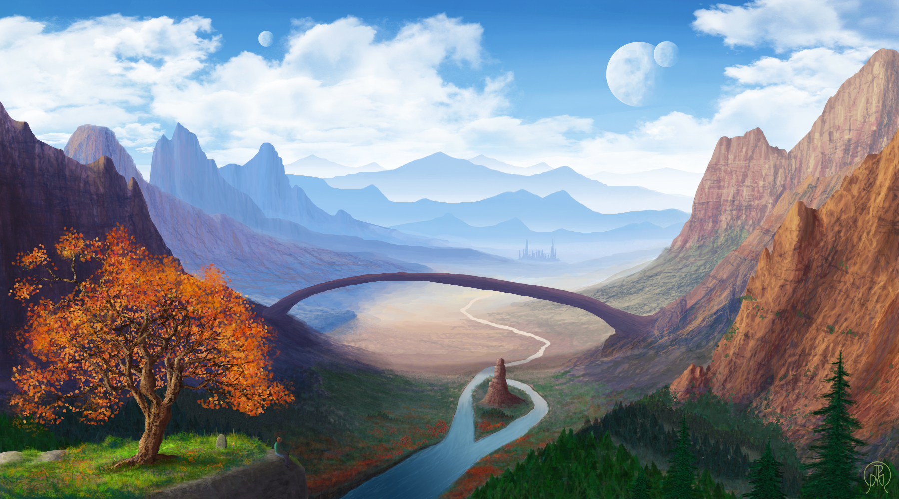 A Canyon View by Spacepretzel