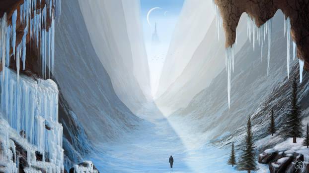 Through the Snowy Gorge