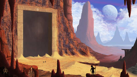 Standing at the Desert Door