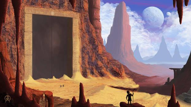 Standing at the Desert Door