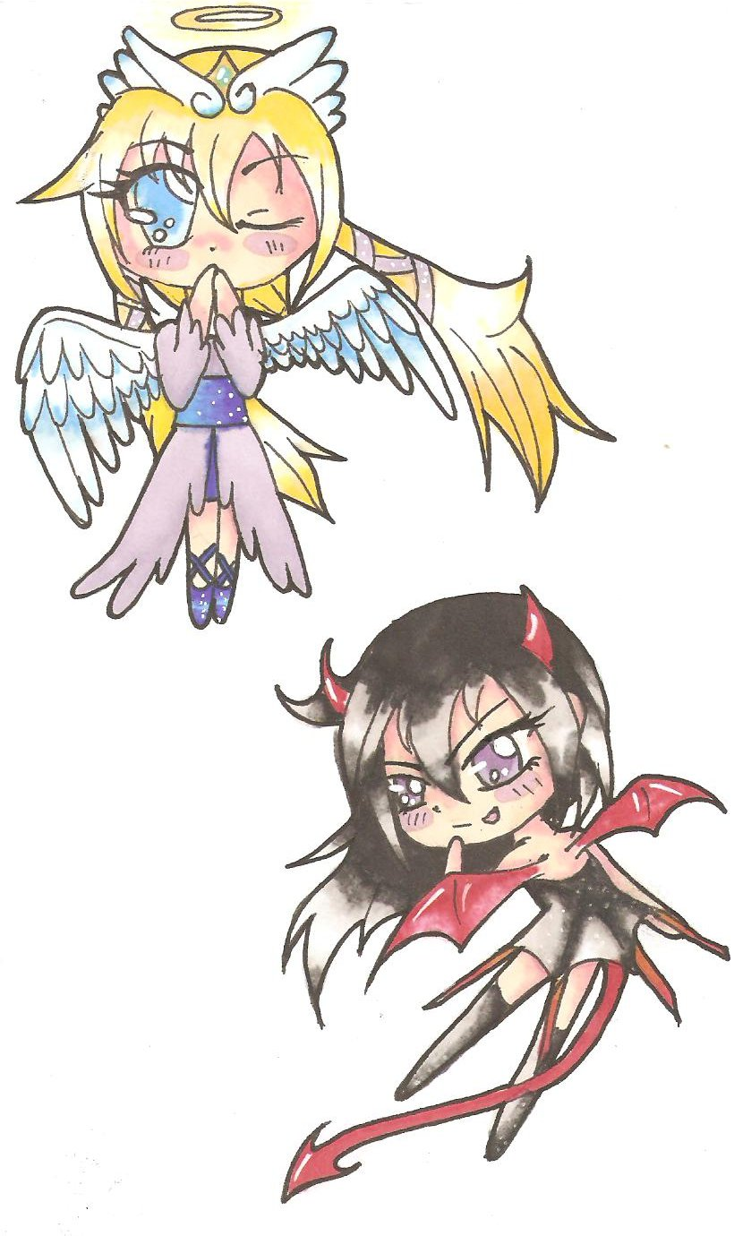Chibi Angel And Devil By Suzy Swellow On Deviantart