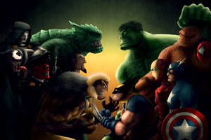 A Group of Marvel characters