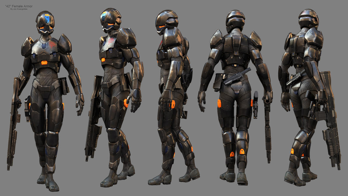 42 Female Armor by JonEvangelist on DeviantArt