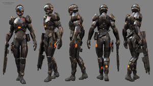 42 Female Armor by JonEvangelist