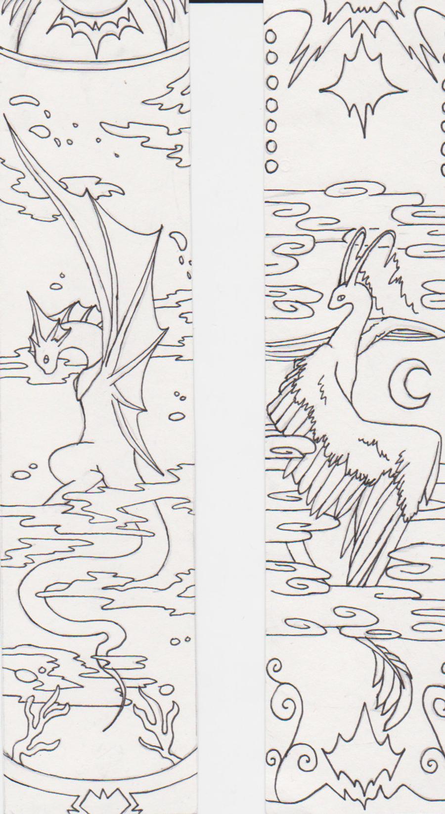 dragon bookmarks by dragonbalance on deviantart
