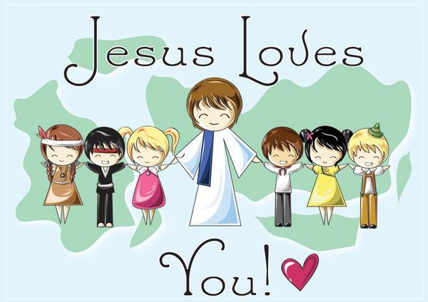 Image Result For Kids Jesus Loves