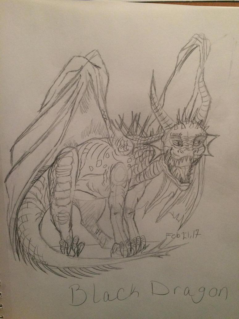 Black Dragon by MatakietheHedgewolf