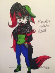Matakie G.U.N. Agent Punk Style Colored! by MatakietheHedgewolf