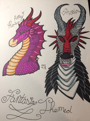Fantasia Dragons Contest Entry Colored! by MatakietheHedgewolf