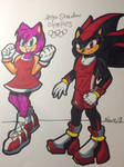 Amy and Shadow Olympics Colored Contest Entry! by MatakietheHedgewolf