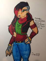 Matakie as a Human with a Half Buzzcut Hair Style by MatakietheHedgewolf