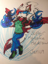Super Matakie Redraw Colored! by MatakietheHedgewolf