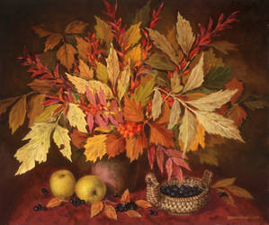Still-life with leaves