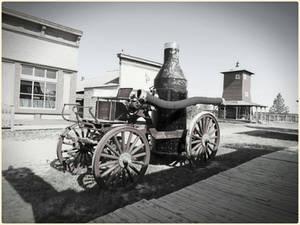 Horse Drawn Fireman's Wagon