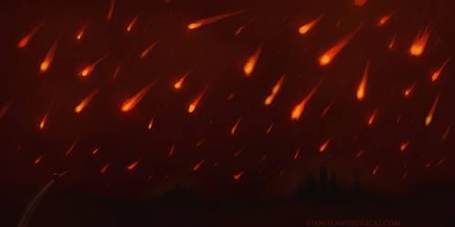 meteor shower speedpainted by aumortis