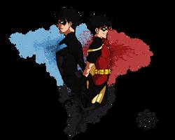 ::..Nightwing and Robin..:: by milena-gorska