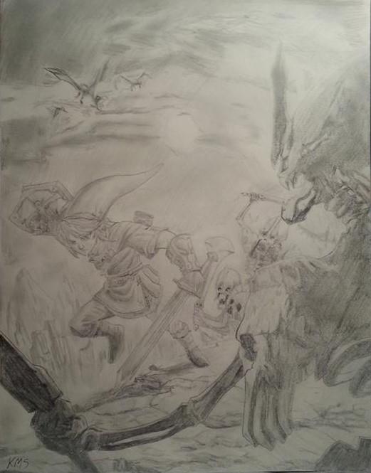 Link In Battle by superstarmario17