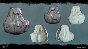 Autostop Girl Backpack by john-medved