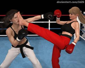 Kickboxers in action (part 2)
