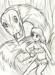 Jungle GirlCommission sketch 3