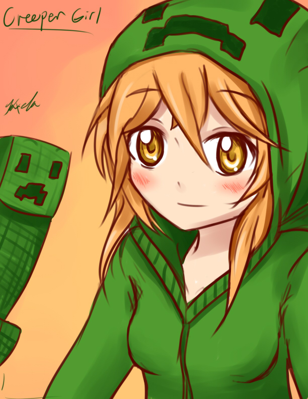 00minecraft ians00 can 39 t hear ya too busy creepin - Creeper anime girl ...