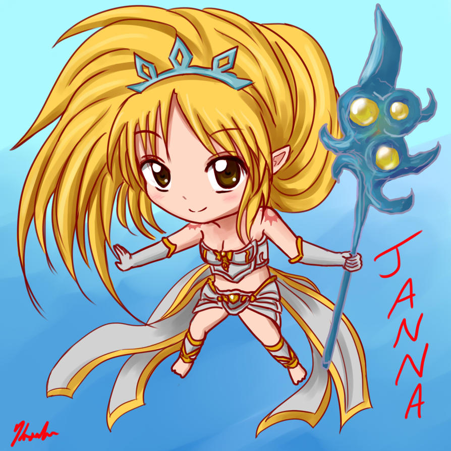 LoL: Chibi Janna by Kxela