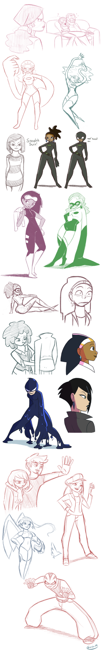 Character Sketches 8 by gamepal