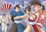 Mai and Chun Li color