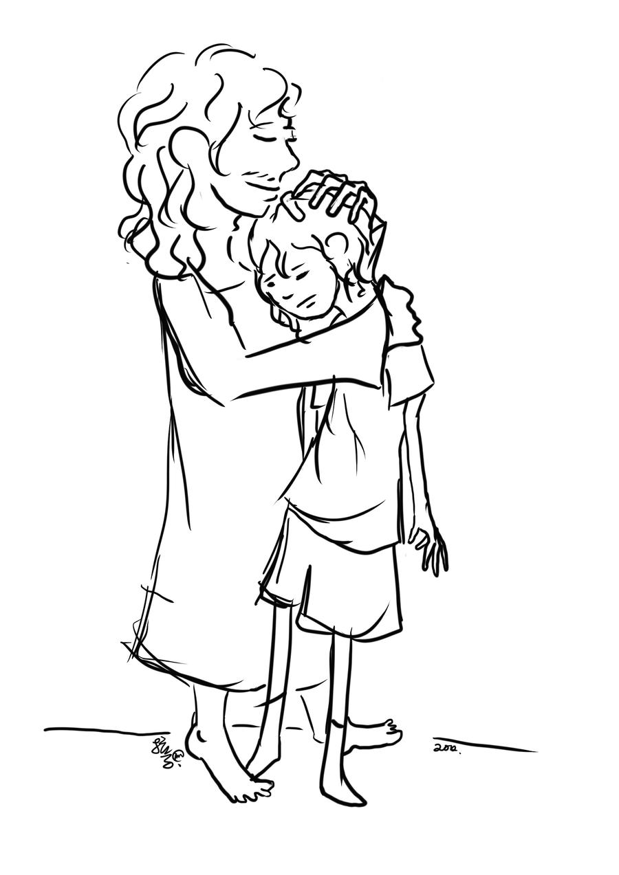 prodigal son coloring pages - the prodigal son by larcelingllameworks on deviantart