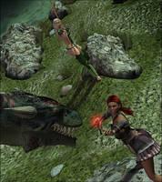 Dragon FIght by Sedorrr