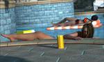 Bruuna at the pool