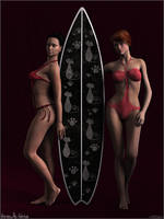Surfer Babes by Sedorrr