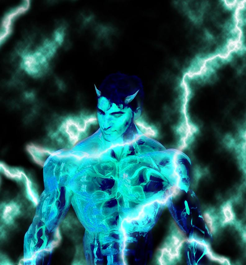 Especificação de Elemento - Slayers. Lightning_demon_by_galligi