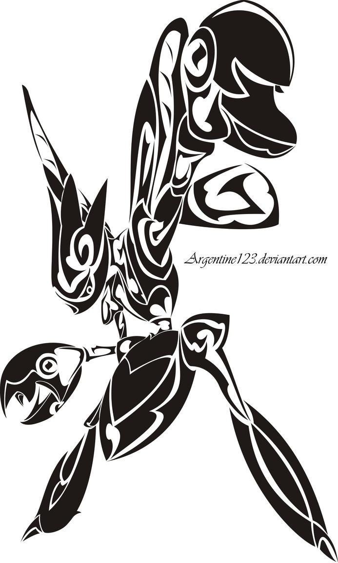 Tribal Scizor Tattoo by NewtonianNocturn