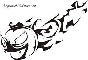 Tribal Gaslty Tattoo by NewtonianNocturn