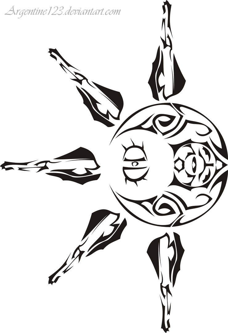 Eclipse tribal tattoo by