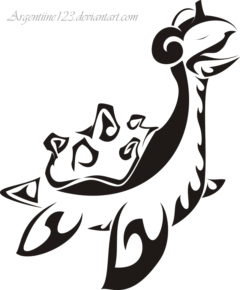 tribal coloring pages - tribal lapras tattoo by newtoniannocturn on deviantart