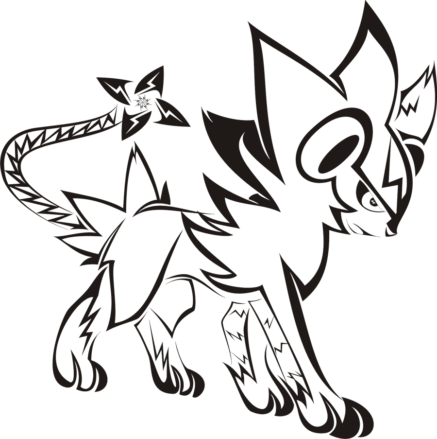 Luxray Coloring Pages Coloring Pages