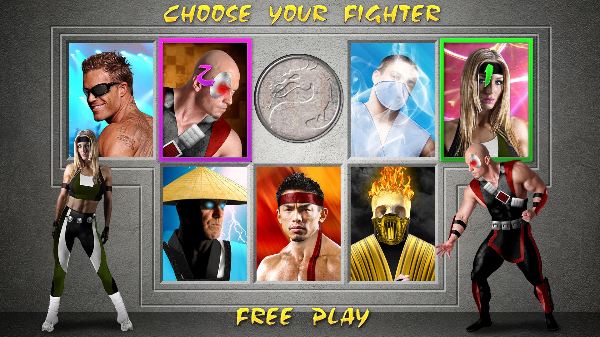Mortal Kombat Raiden Drawings MK1 - Selection Screen...