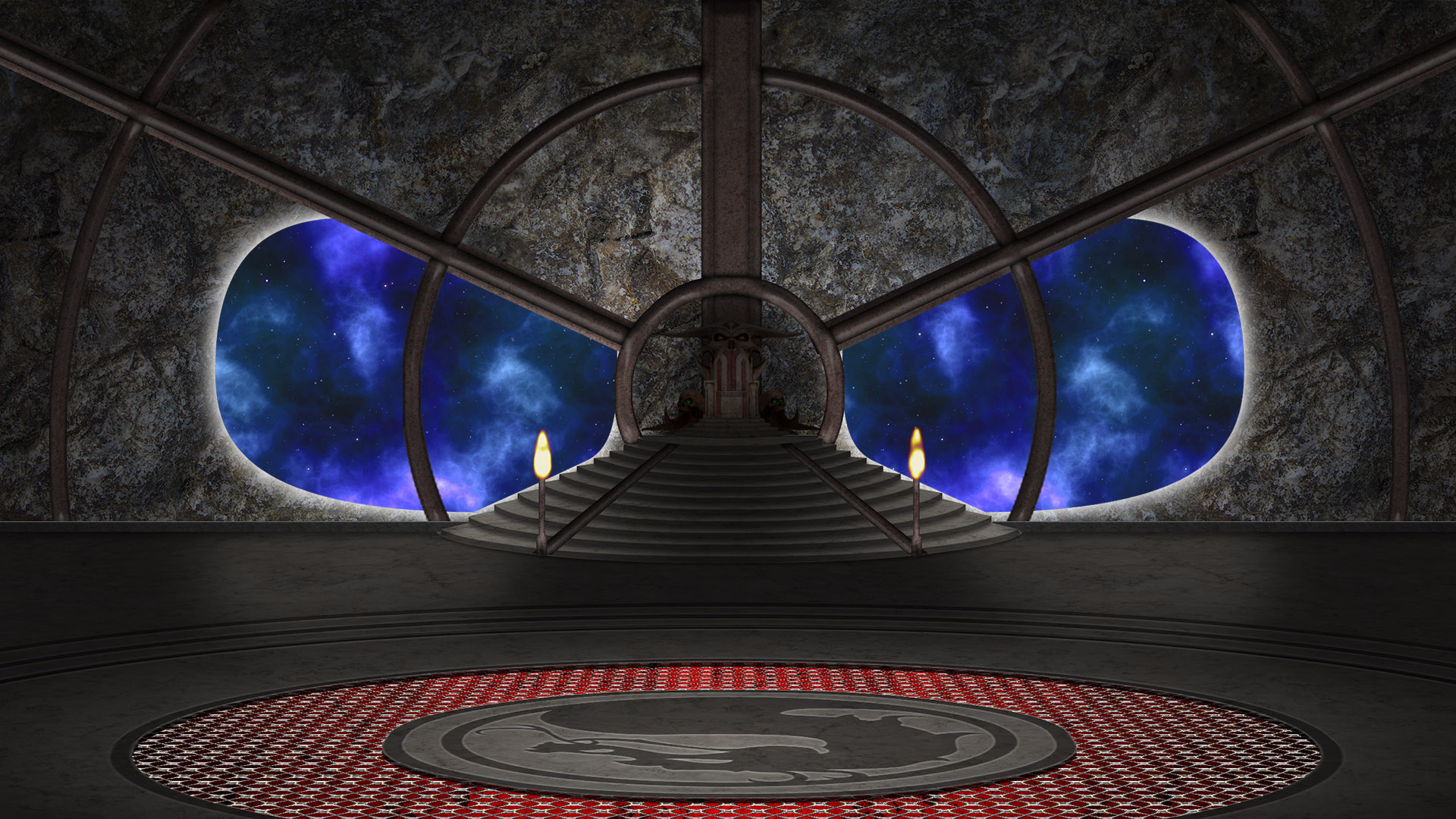 Shao Kahn's Throne Room - Empty Version by molim on DeviantArt