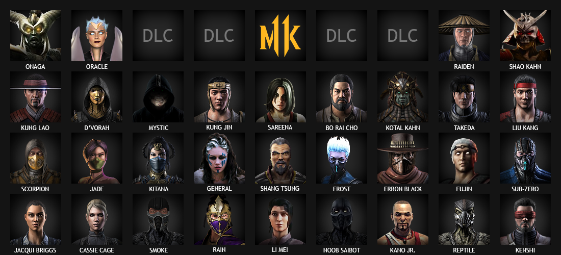 MK11 Roster By Molim On DeviantArt